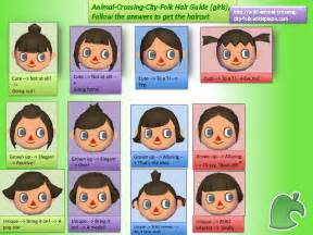 animal crossing city folk hair color guide animal crossing hairstyles hairstyles ideas
