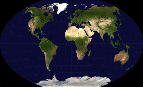 Detailed satellite map of the World. Detailed satellite