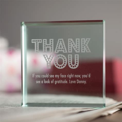 gifts to uk personalised glass token thank you gettingpersonal co uk