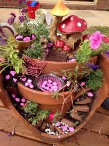 broken pot fairy garden tutorial with video the whoot