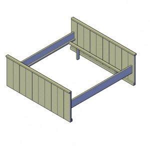 steigerhout bed maken tekening bouwtekening steigerhout bed downloaden bouwtekeningenpakket