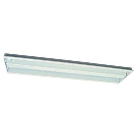 4 Fluorescent Light Fixture Home Depot Sea Gull Lighting Trim 4 Light White Fluorescent Fixture 9504le 15 The Home Depot