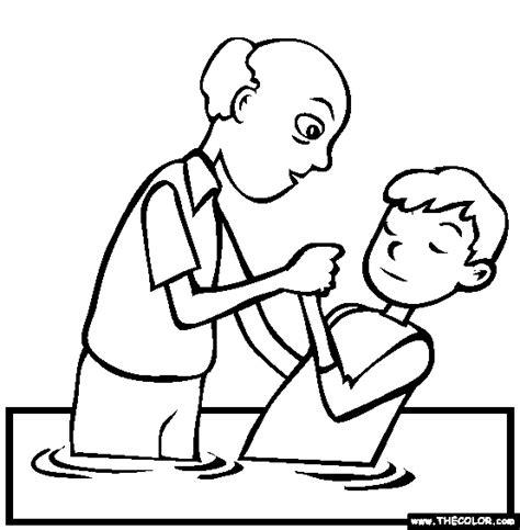 baptism jesus coloring fff hfft bloguez com