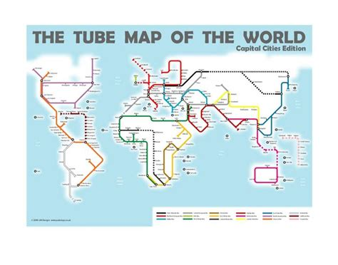 the world cities map world capital cities