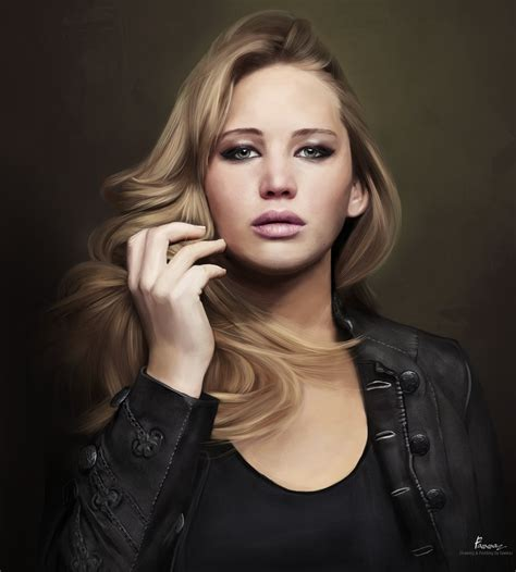 the gallery for gt jennifer lawrence getting painted