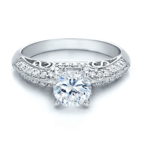 filigree engagement ring vanna k 100724