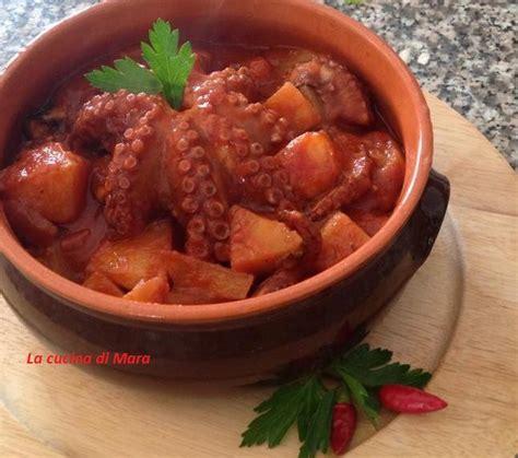 cucinare polpo con patate polpo con patate in umido ricetta tradizionale della
