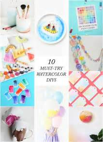 10 must try watercolor diys the crafted life
