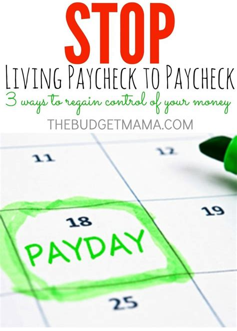stop living paycheck  paycheck frugal living