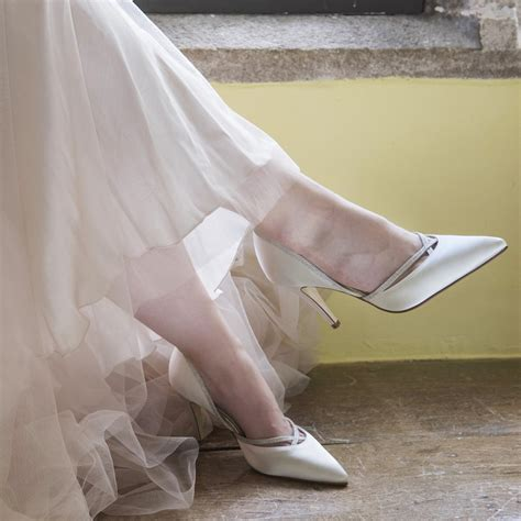 Ivory And Silver Wedding Shoes by By Rainbow Club Dyeable Ivory Satin And Silver