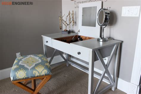 diy makeup vanity plans flip top vanity free diy plans rogue engineer