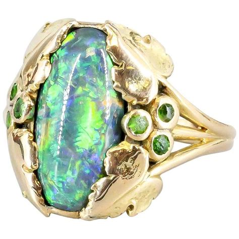 louis comfort tiffany ls for sale louis comfort tiffany and co black opal emerald gold ring
