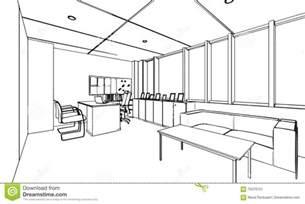 d 233 crivez la perspective de dessin de croquis d un bureau