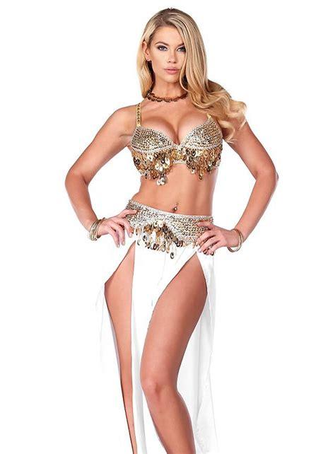 Home Theatre Decorations belly dancer white costume maskworld com