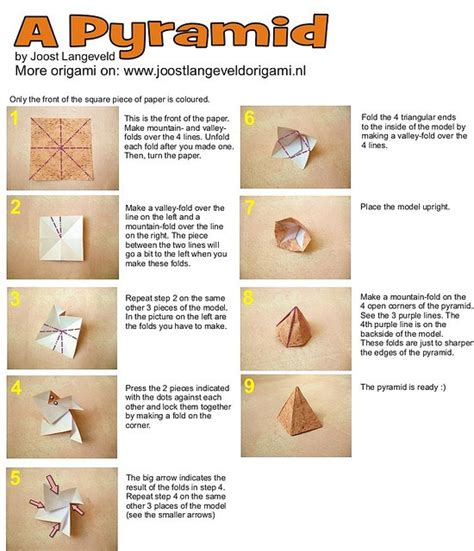 Origami Pyramid - origami pyramid by joostlangeveld via flickr passover