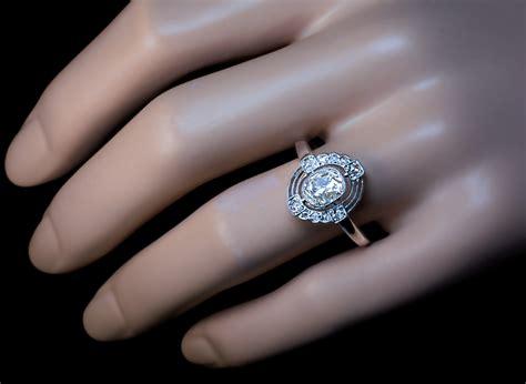 deco and platinum vintage engagement ring