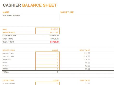 Cash Drawer Balance Sheet Drawer Ideas For Your Home Free Drawer Balance Sheet Template