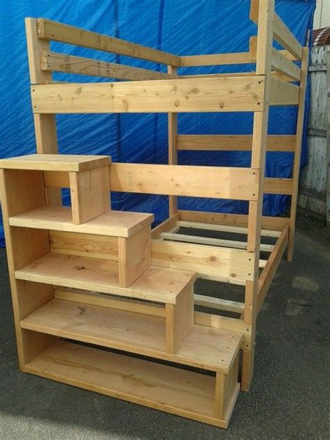 full size loft bed  stairs foter loft bed plans
