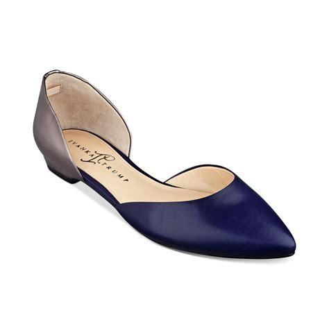 ivanka flats shoes lyst ivanka luiz flats in metallic
