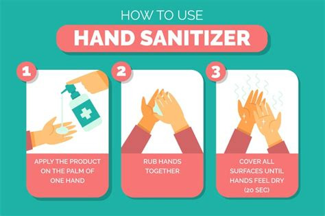 hand sanitizer explanation illustrated  vector