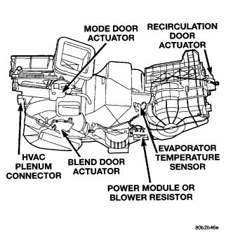 removal of blower motor on a 1999 dodge intrepid