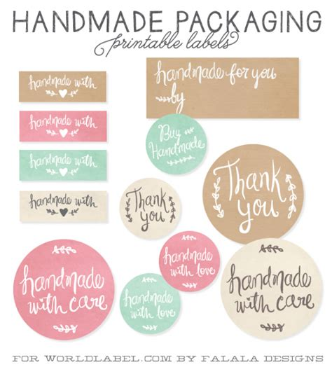 Handmade For You Labels - handmade packaging labels worldlabel