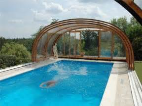 enclosed swimming pools 1000 ideas about pool covers on pinterest container pool small pools and hidden pool