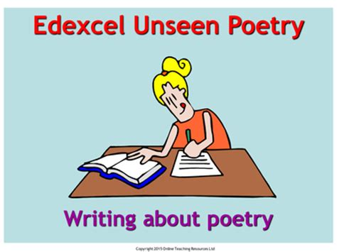 the edexcel gcse poetry edexcel unseen poetry gcse english literature powerpoint and worksheets by martin grundy uk