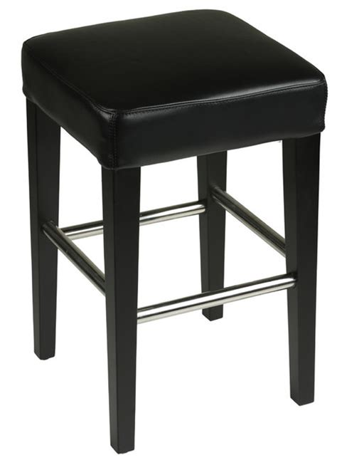 backless leather counter stools cortesi home backless counter stool in genuine leather