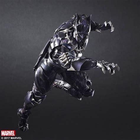 figure black panther marvel universe play arts variant black panther figure