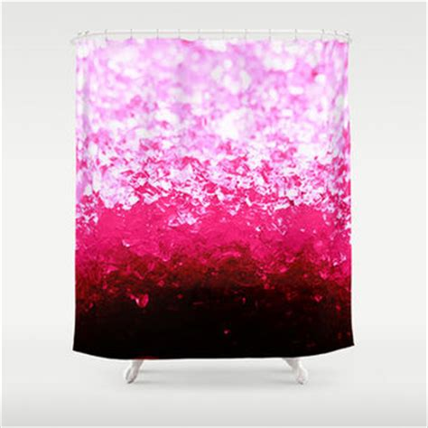 pink ombre shower curtain shop hot pink shower curtain on wanelo