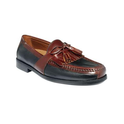 kiltie loafers johnston murphy aragon ii kiltie tassel loafers in brown