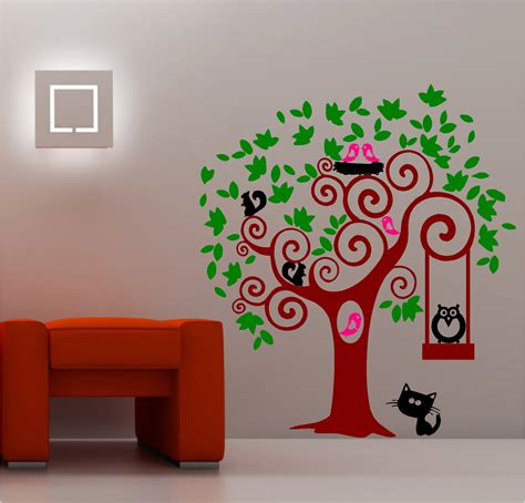 kids bedroom wall paintings animal tree wall art sticker vinyl kids bedroom ebay