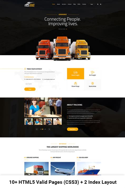 Transportation Website Template 65432 Templates Com Truck Transport Website Templates Free