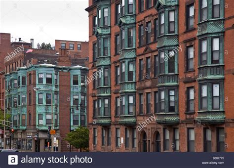 rent appartment boston brick apartment buildings boston massachusetts stock