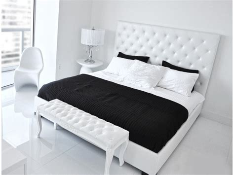 white leather bed high headboard 17 best images about white leather beds on pinterest