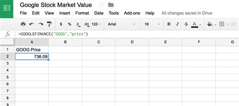 format date google sheets formula use google sheets googlefinance function to display data