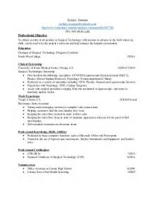 Resume Surgical Tech Resumes Anuvrat Info