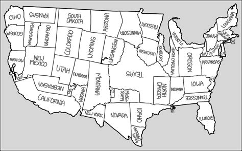 america map shape rearranging the shapes of the states to create a new map