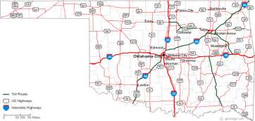 oklahoma map showing cities map of oklahoma