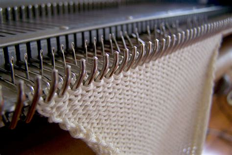 knitting machine in the mundane knitmaster machine