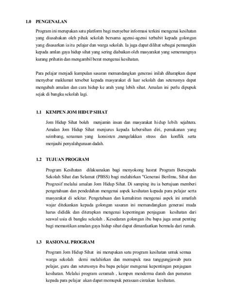 contoh laporan gaya hidup sihat kertas kerja jom hidup sihat