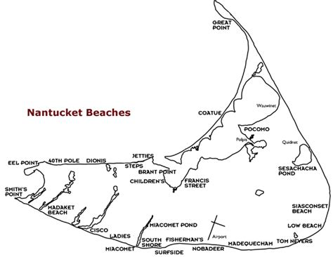 nantucket map top 10 beaches in the world massachusetts world travel fair