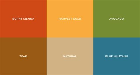 color palette most popular colors defining each decade the 20st into