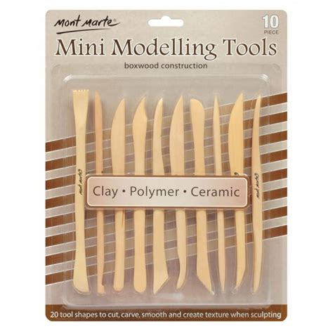 Mont Marte Clay Tool Set Modeling Clay Tools 11 Pcs mont marte mini modelling tools boxwood 10pce great for