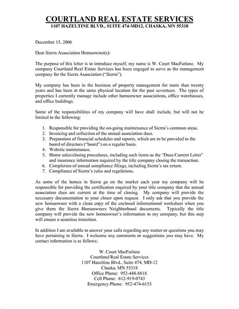 Introduction Letter Real Estate Company Real Estate Introduction Letter Memo Formats