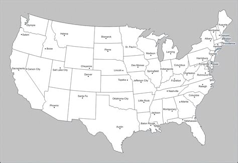 map of the united states with names earth united states map without state names earth usa