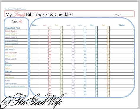budget list for bills template the new budget worksheet bill tracker and