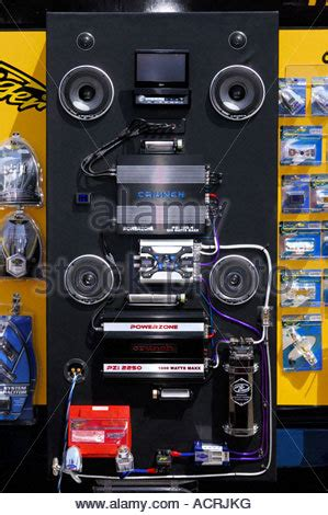 car audio systems and tuning show in warsaw poland stock