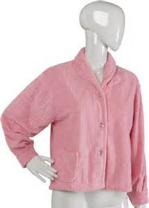 womens luxurious button up housecoat slenderella
